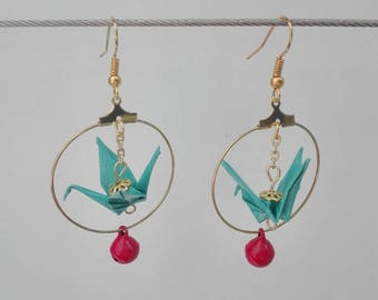 Crane origami and Bell hoops