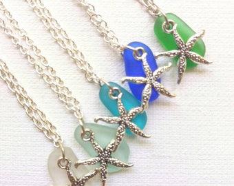 Sea Glass Pendant Sea Glass Necklace Beach Glass Necklace Sea Glass Jewellery Mermaid Jewellery Beach Wedding Jewelry Bridesmaid Necklace