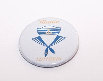 Set of 20 badges sailor boy