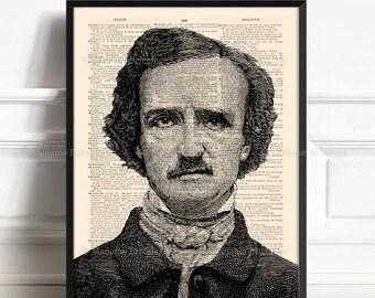 Edgar Poe Print Art, Edgar Poe Lover Gift, Edgar Poe Decor, Edgar Poe Gothic, Him Gift Poster, Allan Poe Decor, Christmas Print Gift 318