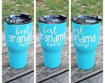 Best Grandma Ever tumbler / Grandma gift / Grandmother gift / RTIC Tumbler 20 oz, 30 oz