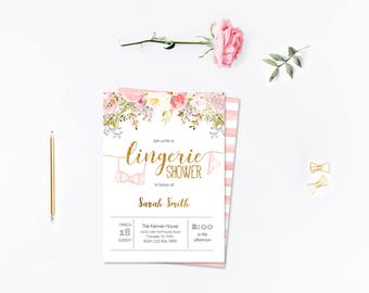 Lingerie Shower party_3,INSTANT DOWNLOAD - Edit Yourself in Word. Template Editable Text Microsoft Word.DIY You Print.