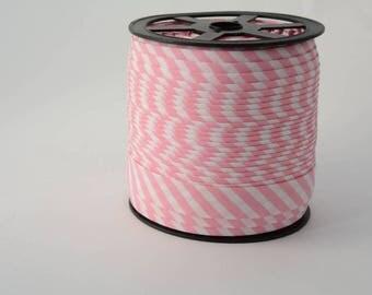 18mm bias binding stripes cotton bias 5mm pink stripes cotton