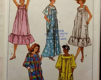 Vintage 80's Uncut Misses Small Easy to Sew Loose Fitting Dress 8066
