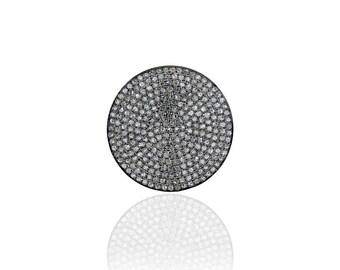 SDC2124 Round Pave Diamond Charm