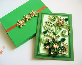 Flower paper Design card,Birthday Anniversary Quilling card,Greeting card,Handmade Quilling Card,Handmade birthday card,Pretty Quilled Cards