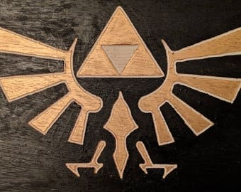 Legend of Zelda Triforce Woodcut