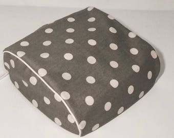 Cricut Easy Press Custom Handmade Dust Cover Gray and White polkadot with (choose color) Piping