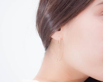 Boucles d'oreilles dorée à l'or fin 24 carats Chloé minimaliste bohème