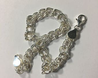 Sterling Silver Double Link Chain [9in long]