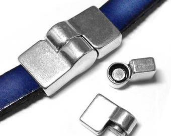 Magnetic Bracelet Clasp Antique Silver (ZM11134)