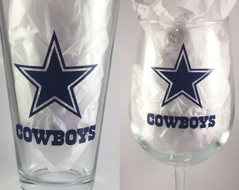 Dallas Cowboys glass
