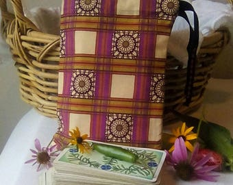 Tarot Cloth and Matching Tarot Bag Divination Set Tarot Reading Set *FREE domestic SHIPPING ITEM*
