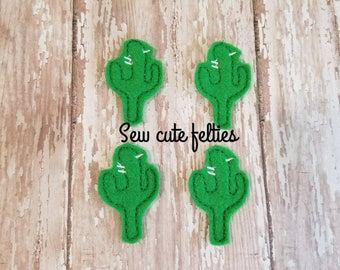 Cactus Felties - Felties - Embroidered Felt Appliques - Hair Bow Centers - Badge Reels -Planner