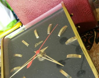 "Mid-Century Modern ""Ovivo"" desk clock Original box  made in Germany"