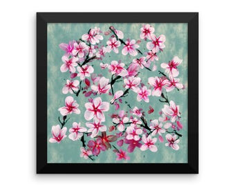 Watercolor Blossoms, Framed poster