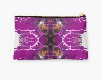 Pink zipper pouch (Pouch, travel pouch, pencil pouch, cosmetic pouch, zipper pencil pouch, makeup pouch, small zipper pouch, zippered pouch)