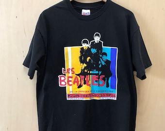 """90's The Beatles """"Paris-Theatre 1964"""" T-Shirt XL"""