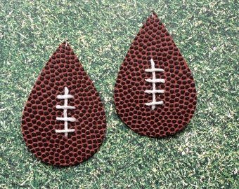 Football earrings, football teardrop earrings, sports earrings