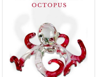 Fabulous glass figurine - squid