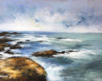 Seascape painting, original  painting