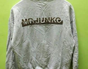 Mr Junko sweatshirt embroidery spell out by Junko Koshino