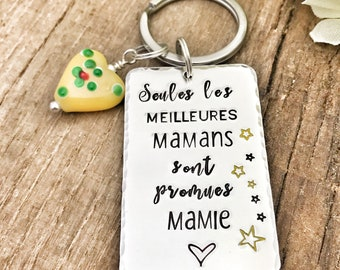 Personalised French Mamie Keyring, Cadeau Mamie, Porte Clé Mamie