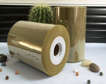sale! High quality tulle roll Bronze - gold sparkly 15 cm x 82 m for tutu and decoration.