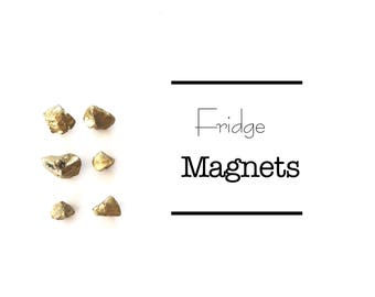 Gold Nugget, Fridge Flair, Magnets, Fools Gold, Refrigerator Magnets, office supplies