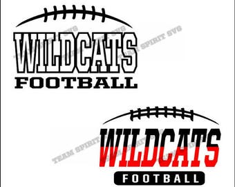 Wildcats Football Laces Download Files - SVG, DXF, EPS, Silhouette Studio, Vinyl Cut Files, Digital Files -Use with Cricut and Silhouette
