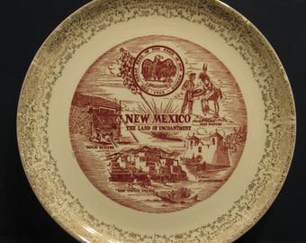 """Vintage10"""" New Mexico, The Land of Enchantment State Plate"""