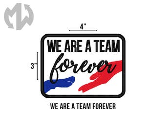 "TEAM FOREVER 3"" x 4"" Service Dog Patch"