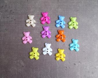 20 buttons form Teddy mix colors 1.9 cm