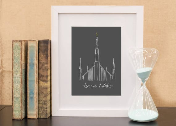 Boise Idaho Lds Temple Hand Sketch Instant Download Wedding
