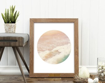 beach print download, beach photograph, abstract decor, dreamy nursery art, ocean waves print, summer print, yoga studio art, digital files
