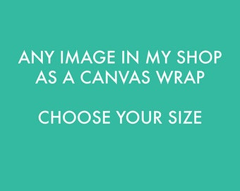 canvas wrap, any image in my shop, your choice, gallery wrap, home decor, nursery wall art, ready to hang, fine art photography, Myan Soffia