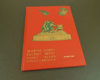 Vintage Marine Corps Recruit Depot Parris Island South Carolina Platoon, Pictorial Record, Yearbook, Military Installation, Semper Fidelis