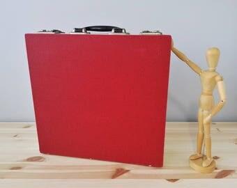 70s Vinyl Record Storage Case - Accordion type - Storage of 24 LP's