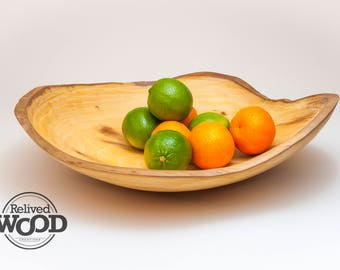Handmade Wood Bowl – Natural Live Edge – Large Sycamore Bowl centerpiece accent piece decor gift 393