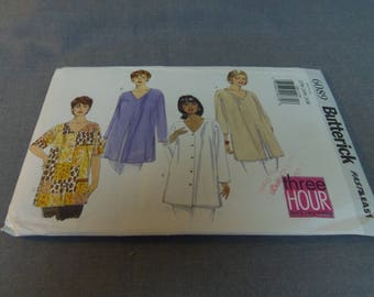 Womens Womens Petite Very Loose Fitting Top, Plus Sizes 22W, 24W, 26W, Uncut, Butterick Very Easy 6089, 1999