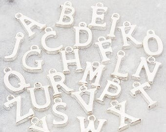 Add a silver letter charm, personalize my piece, initial charm, add on