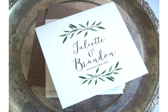 Rustic Wedding Invitation - Woodland