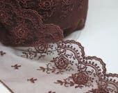 Brown Lace Trim - Exquisi...