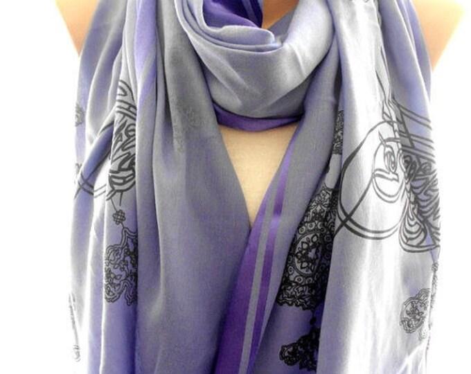 blue pashmina scarf, pashmina shawl, scarves for women, soft scarf, cozy scarf, trendy scarf