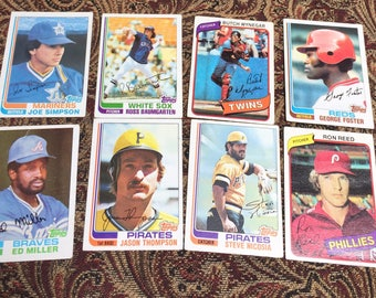8 Autographed Baseball Cards