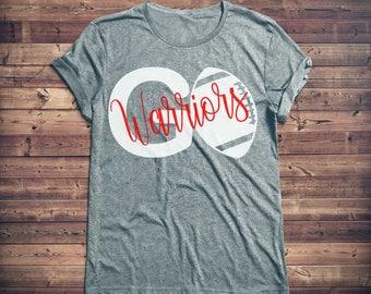 Personalized Football Shirt, Team Football Shirt, Football Wife, Game Day Shirt, High School, Football Mom Shirt, Women's Football Shirt