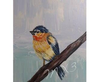 Bird Print, Chickadee Print, Bird on Branch, Chickadee Print, Small Bird, Hallway Art, Gifts under 10, Mother's Day Gift, Friend Gift