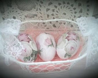 Easter egg basket shabby chic