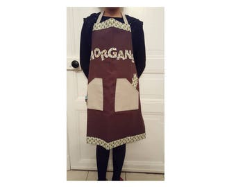 Personalized Brown apron pineapple themed
