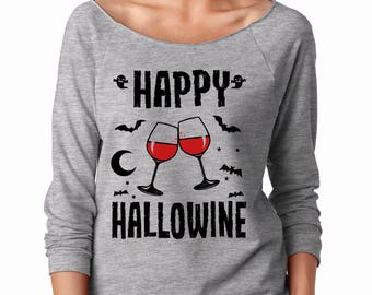 Halloween Shirt French Terry Halloween Party Costume For Women Funny Halloween Shirt Raglan